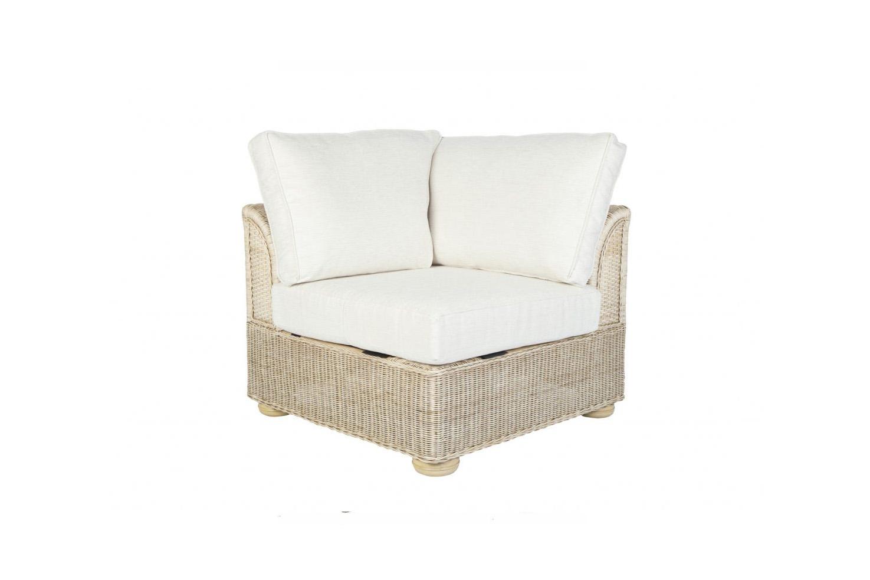 Brook Wicker Cane Rattan Conservatory Furniture Corner Chair